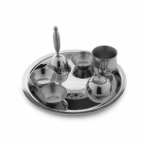 Etching  Pooja Thali Small