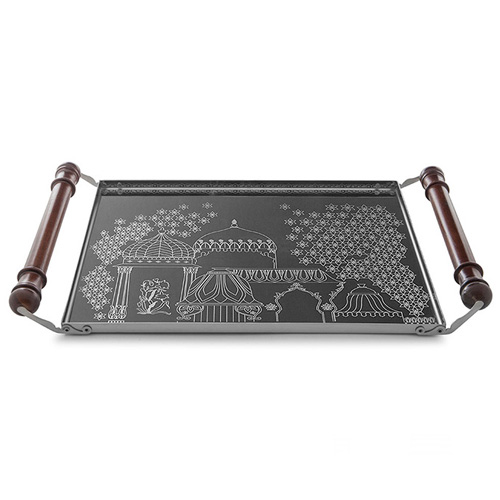 Pink City Collection Serving Tray Etching1