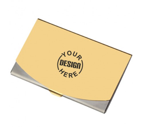 Golden Business Card Holder