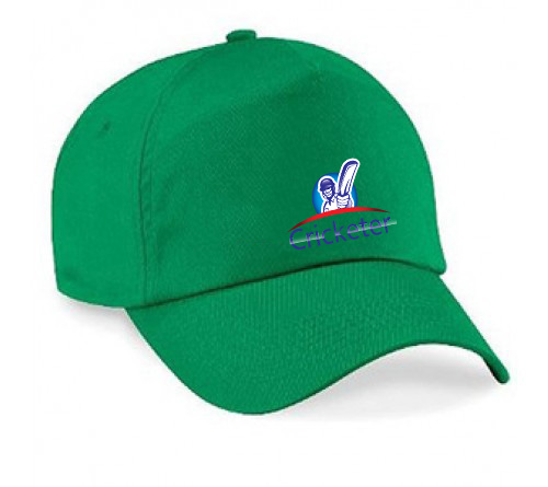 Customized green Color Printed Cap