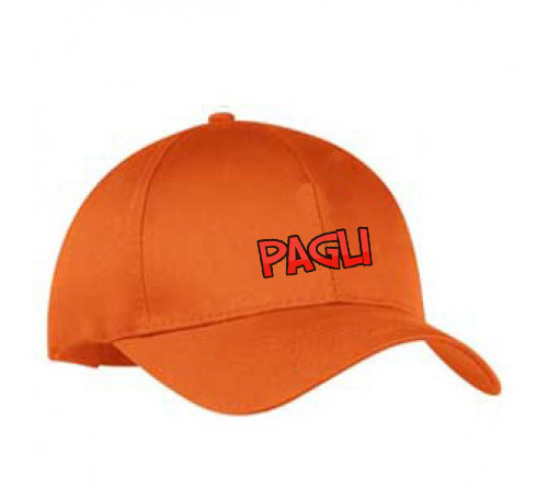 Customized Embroidered  Printed Cap Orange