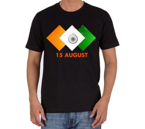independence day black  t-shirts