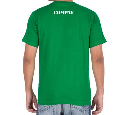 Embroidered Cotton Crew Neck T Shirt Green