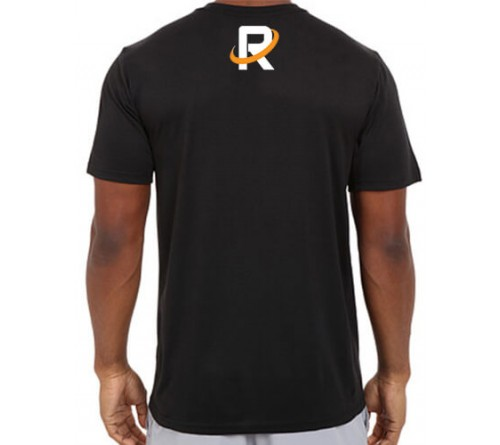 Printed Dri Fit Round Neck T Shirt Black