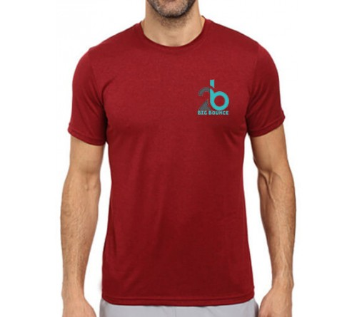 Printed Dri Fit Round Neck T Shirt Red