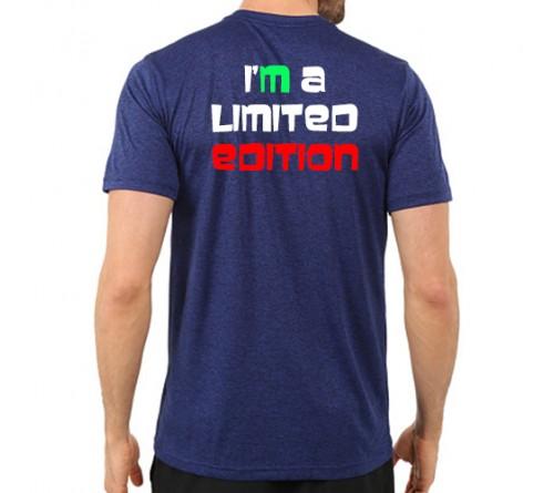 Printed dri fit round neck t shirt royal blue for Custom printed dri fit shirts