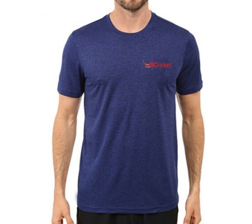Printed Dri Fit Round Neck T Shirt Royal Blue