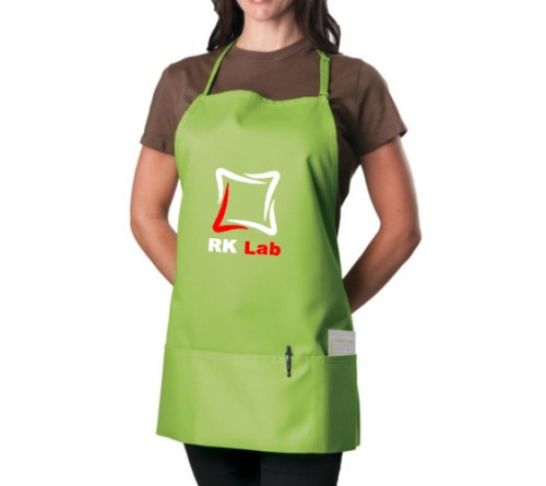 Custom 3 Pocket Bib Apron Green