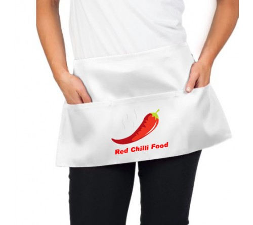 Custom Waist Apron White
