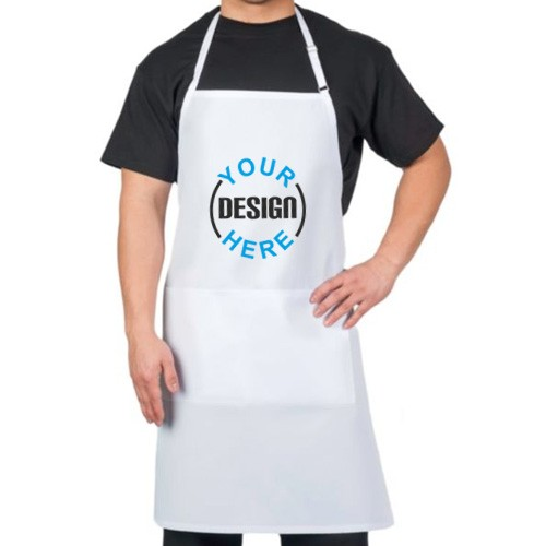 Customized Long Apron White