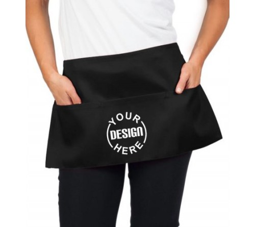 Custom Waist Apron Black