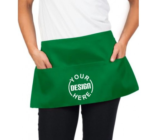 Custom Waist Apron Green