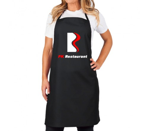 Customized Bib Apron Without Pocket Black
