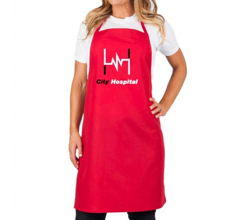 Customized Long Apron Red