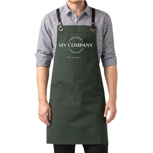 Deluxe Bib Apron Forest Green
