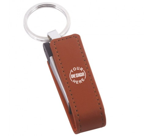 Leather Pen Drive Brown 8GB