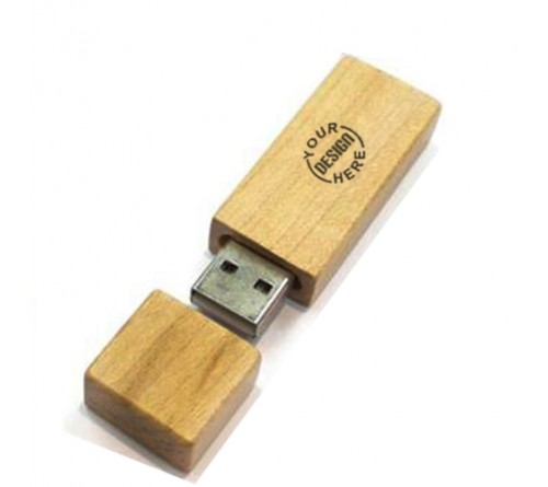 Wooden Oval Pen Drive16GB