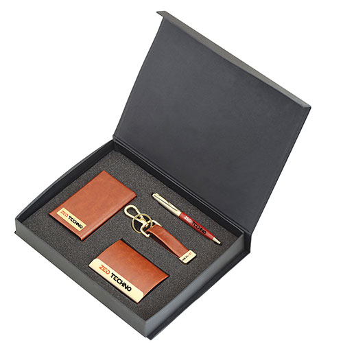 4X1 Business Gift Set Brown