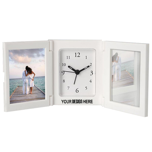 3 Pc Folding Alarm Clocks with Photo Frame and Mirror