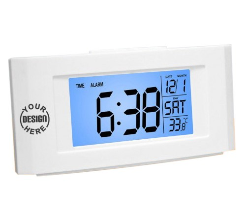 Backlight Clock with Temperature