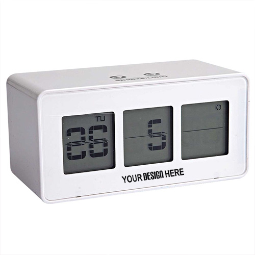 Flip Display Clock with Touch Light