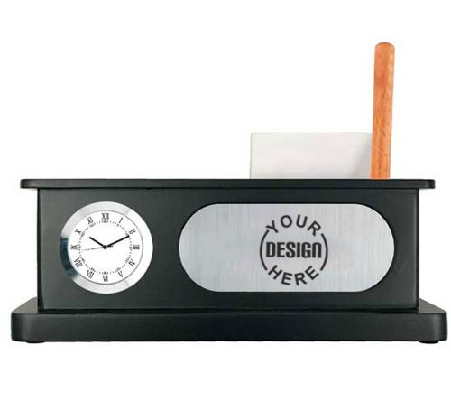 Pen Stand Table Clock