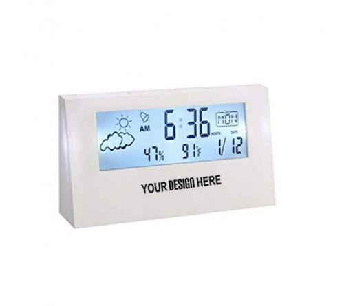 Sharp Weather Station Clock with Backlight