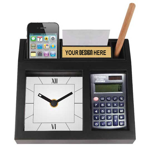 Table Clock with Calculator Top Gift
