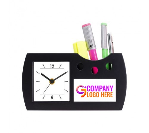 Executive Table Clock with Pen Stand