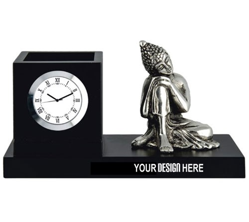 Table Clock With Buddha