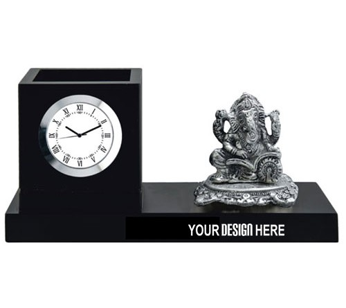 Table Clock With Ganesha