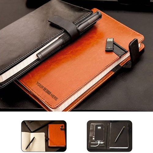 5000 Mah Power Bank Notebook With16 GB Pen Drive
