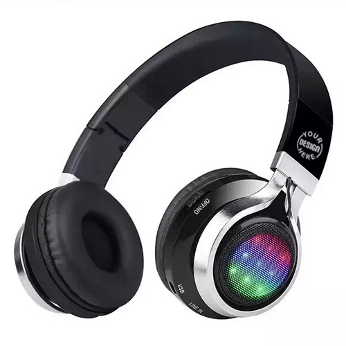 Bluetooth Headphones with LED Lights