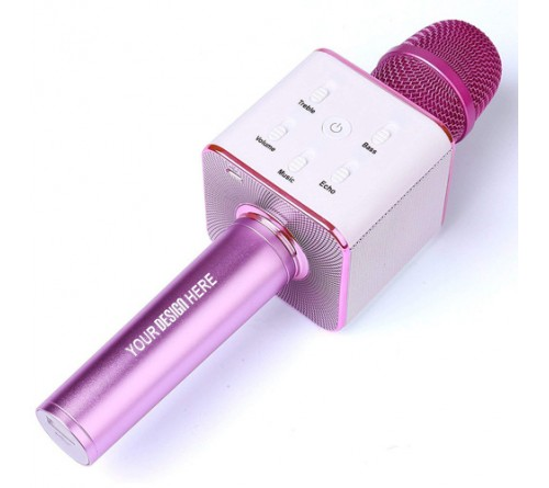Handheld Wireless Microphone with Bluetooth Speaker