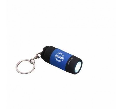 Rubberised Torch Key Chain