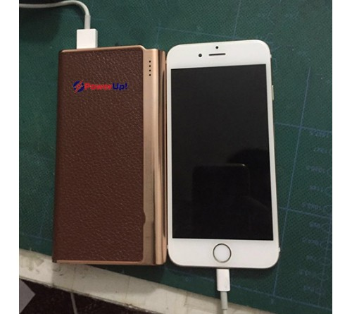 Brown Color Leather Cover Power Bank 5100 Mah