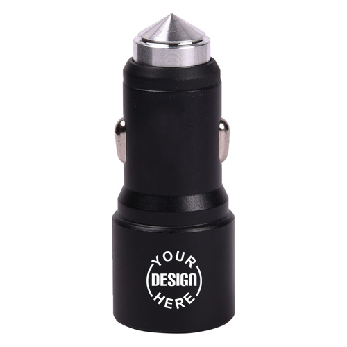 USB Car Charger with Window Breaker