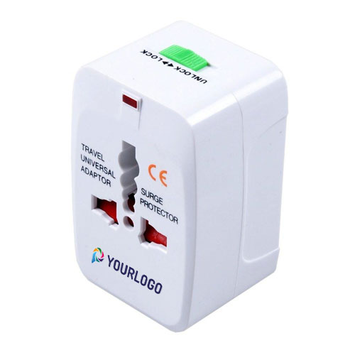 World Travel Adaptor with Surge Protection Pop out Plug