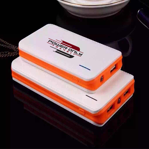 White Color Printed Power Bank 4000 Mah