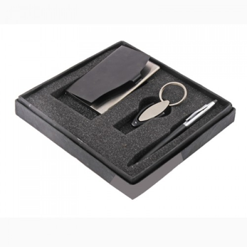 Set of 3 Gifts Pen Key Chain And Card Holder