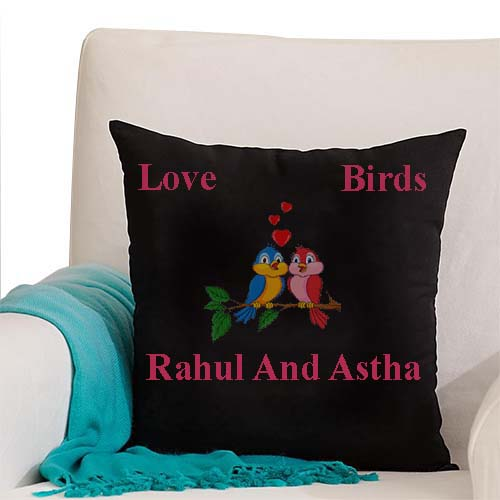 black color customized pillow