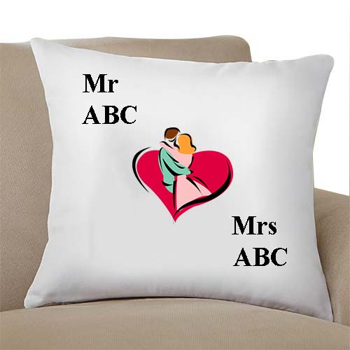 white wedding gift pillow