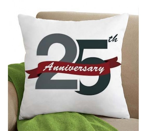 anniversary pillow white color