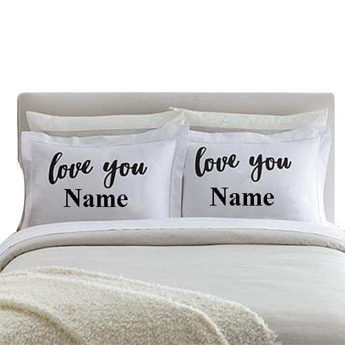 love you printed pillow
