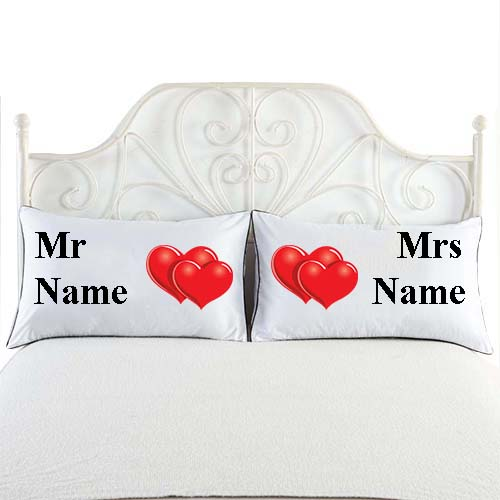 mr and mrs white cushion