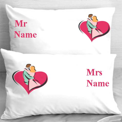 customized white cushion