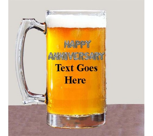 beer mug text printed
