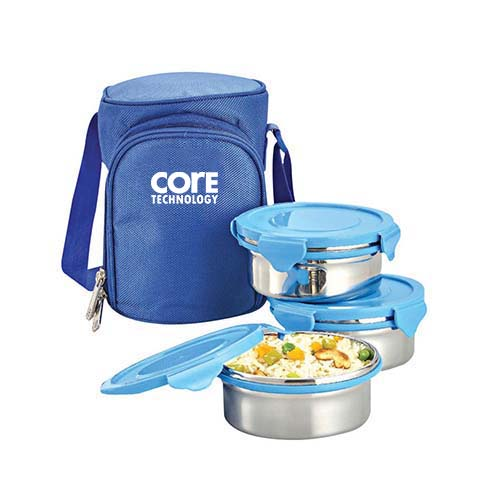 3 Steel Container Zippy Lunch Box