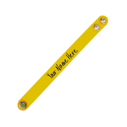 Name Printed Wristband Yellow