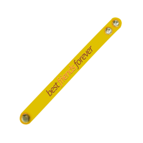 Best Friend Forever Wristband Yellow
